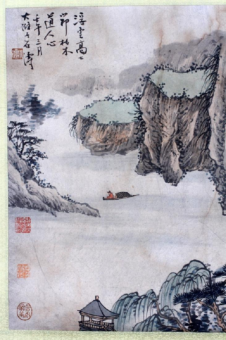 CHINESE INK AND WATERCOLOR SCROLL - 2