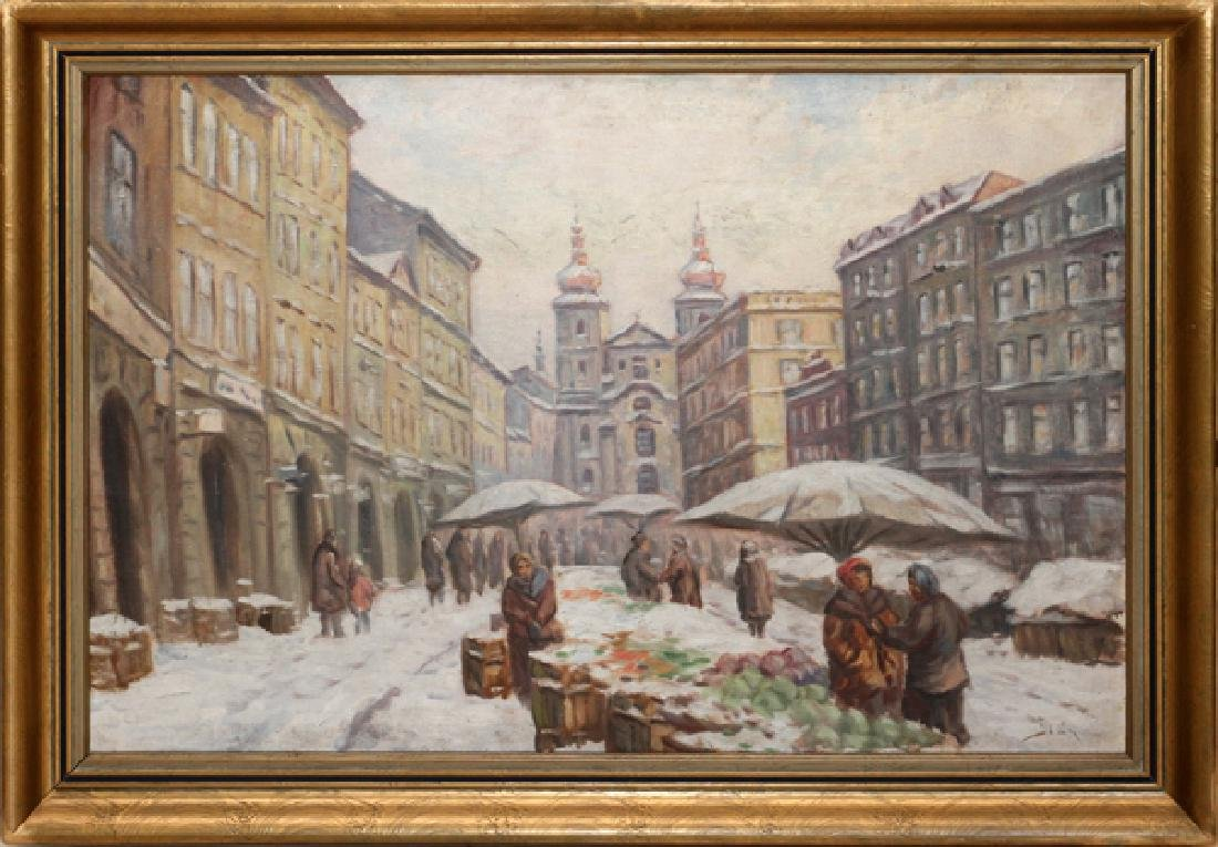 SIGNED CZECH OIL ON CANVAS 20TH C.