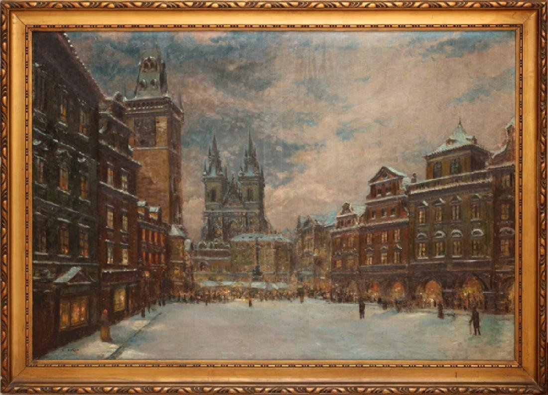 EMANUEL BAKLA OIL ON CANVAS LATE 19TH/EARLY 20TH C.