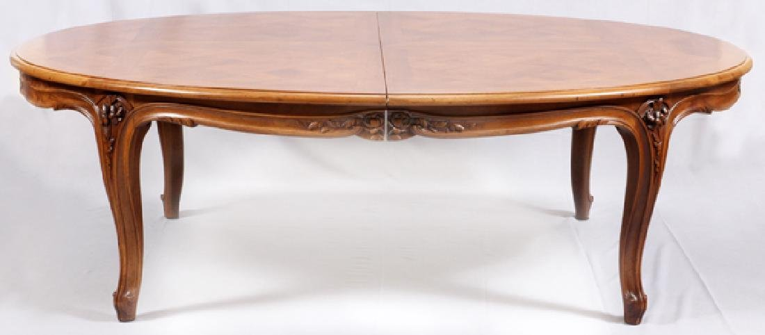 COUNTRY FRENCH WALNUT DINING TABLE