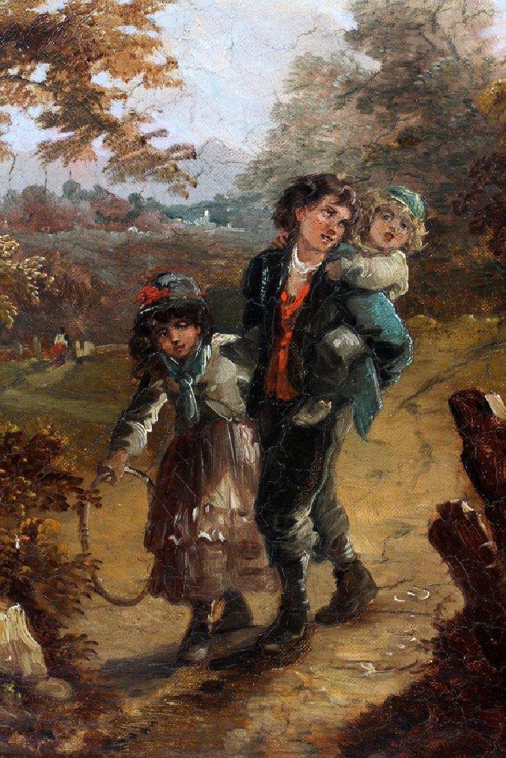 T. BARKER OIL ON CANVAS LATE 19TH C. - 2