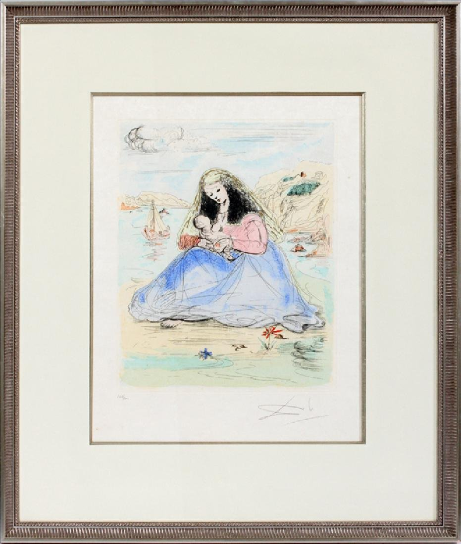AFTER SALVADOR DALI HAND COLORED ETCHING C. 1977 - 2