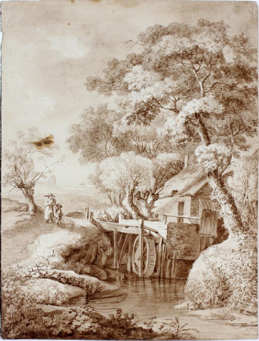 GERMAN WATERCOLOR CIRCA 1800