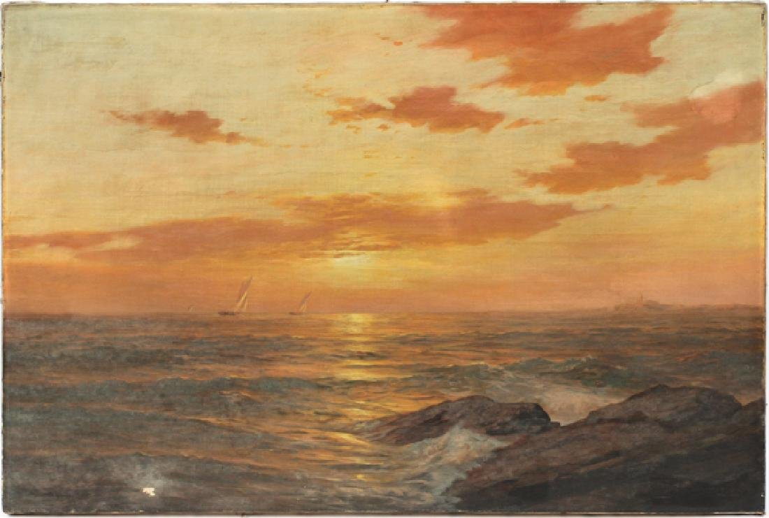 AMERICAN OIL ON CANVAS C. 1883-1899