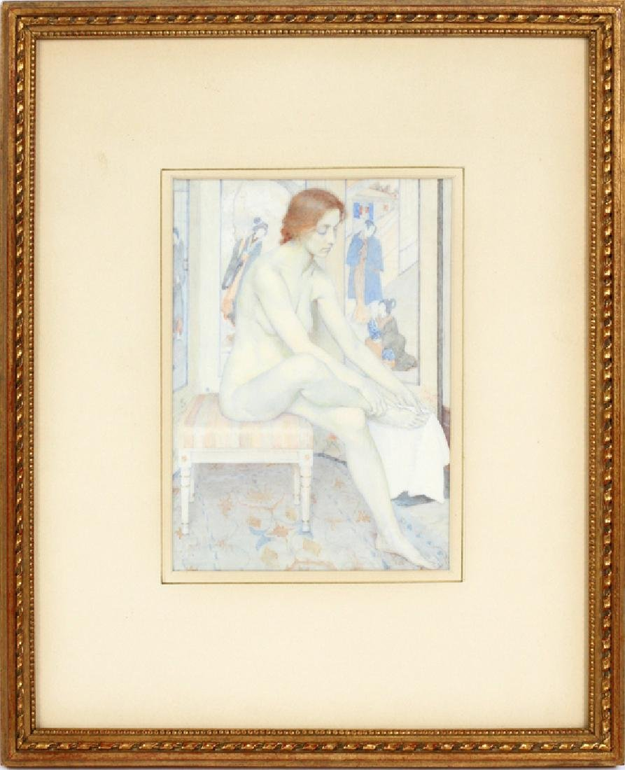 ATTRIBUTED TO LUCIA FAIRCHILD FULLER WATERCOLOR - 2