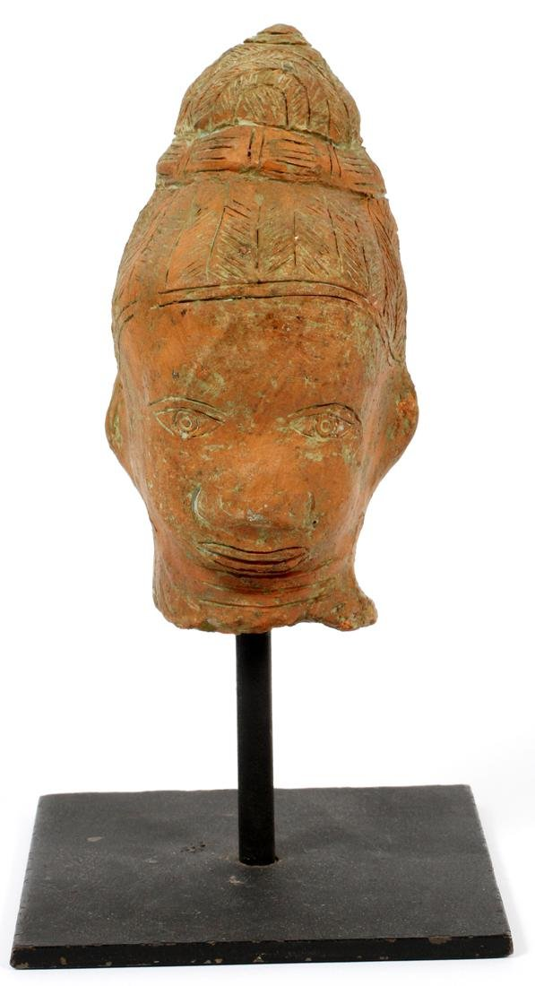 ASIAN CARVED TERRACOTTA HEAD