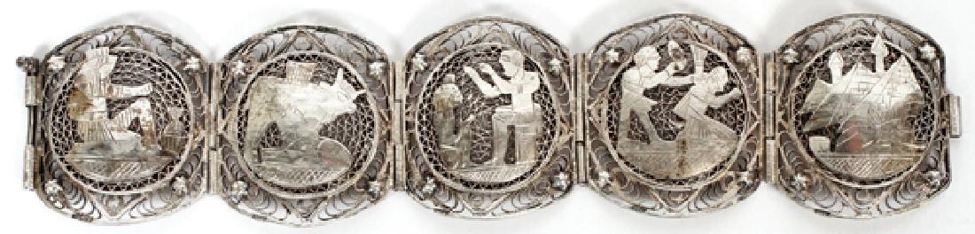 EGYPTIAN SILVER FILIGREE BRACELET