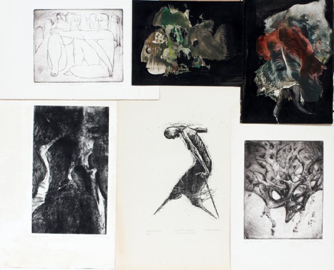 CIK DAMADIAN 3 ETCHINGS 1 LITHOGRAPH & 2 MONOTYPES
