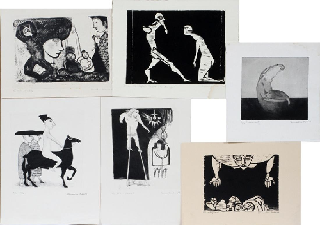 MAIA DAMADIAN 3 LITHOGRAPHS 2 WOODCUTS 1 ETCHING