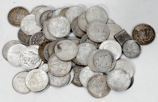 110018: AMERICAN SILVER DOLLAR & HALF DOLLAR COINS