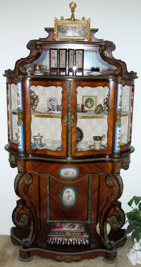 111004: FRENCH SECRETAIRE W/ INSET SEVRES PLAQUES