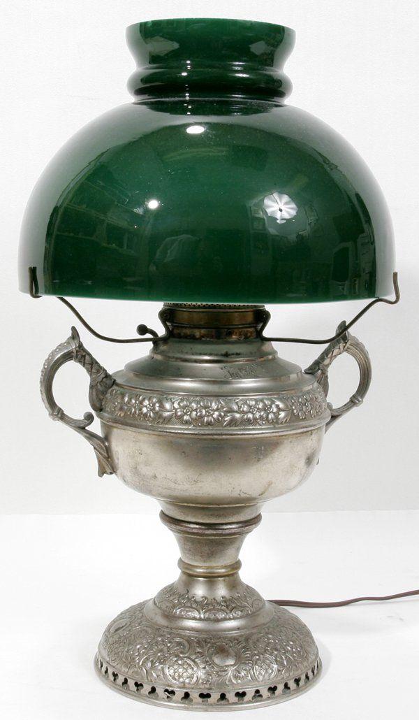 "AMERICAN VICTORIAN OIL LAMP, ""THE JUNO LAMP"""