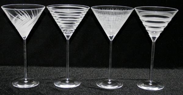 "111447: SALVIATI CRYSTAL MARTINI GLASSES, H8.3"""