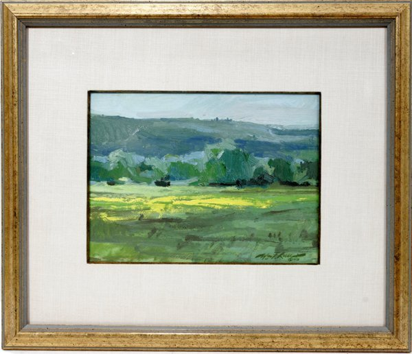 112017: WILLIAM F REESE OIL ON PAPER, BREATH OF SPRING