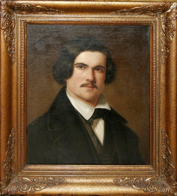 112020: GEORGE HENRY HALL N.A. OIL ON CANVAS, MAN