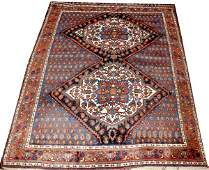 112067 ANTIQUE AFSHAR WOOL PERSIAN RUG 5x7