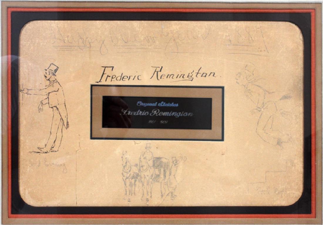 FREDERIC REMINGTON DRAWINGS & SIGNATURE 1887 - 10