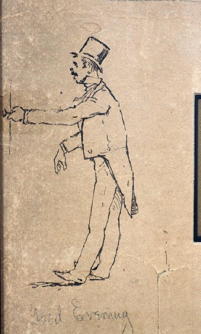 FREDERIC REMINGTON DRAWINGS & SIGNATURE 1887 - 11