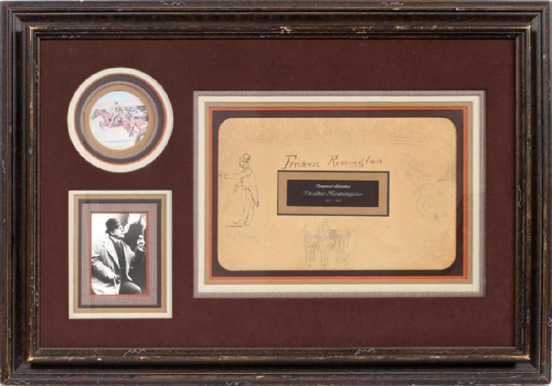 FREDERIC REMINGTON DRAWINGS & SIGNATURE 1887