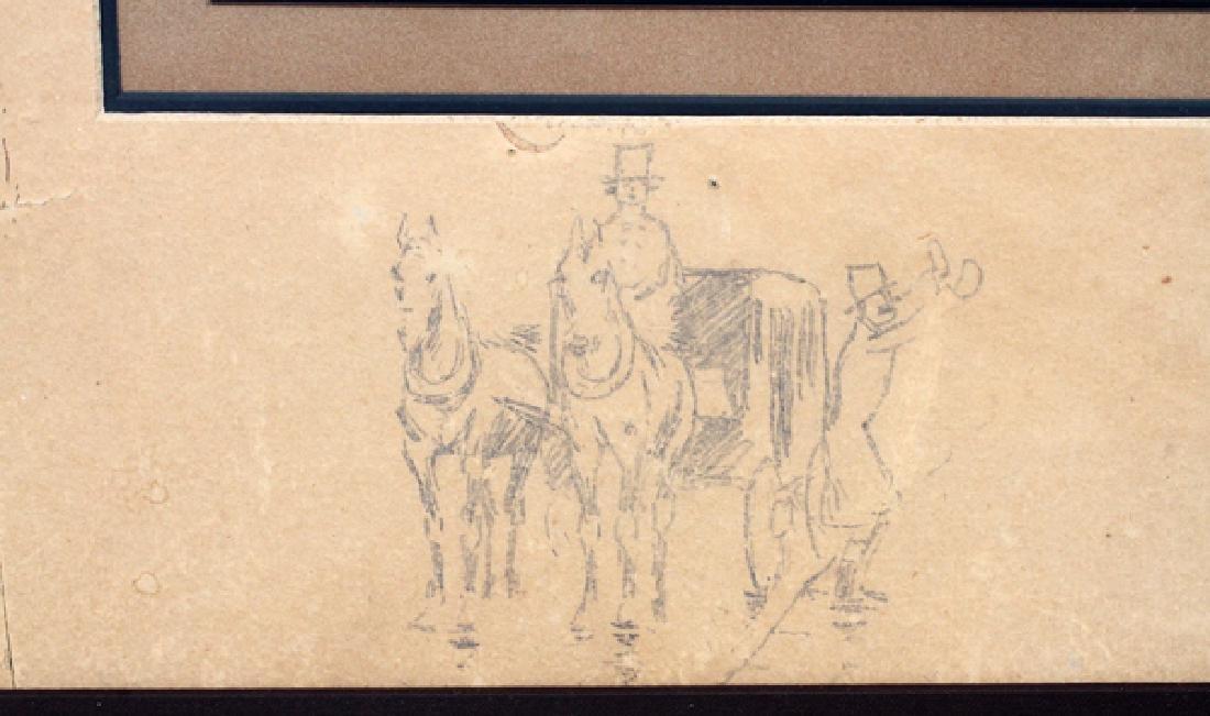 FREDERIC REMINGTON DRAWINGS & SIGNATURE 1887 - 3