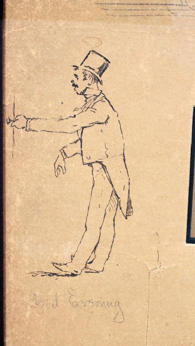 FREDERIC REMINGTON DRAWINGS & SIGNATURE 1887 - 4