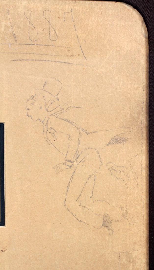 FREDERIC REMINGTON DRAWINGS & SIGNATURE 1887 - 5
