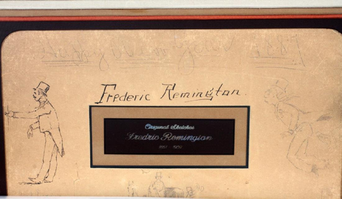 FREDERIC REMINGTON DRAWINGS & SIGNATURE 1887 - 7