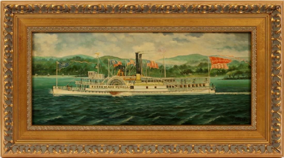 J. CLARK OIL ON BOARD