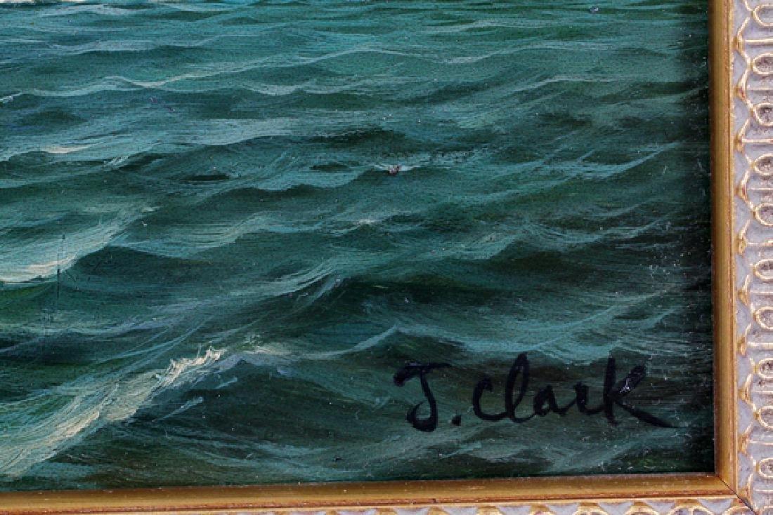 J. CLARK OIL ON BOARD - 2