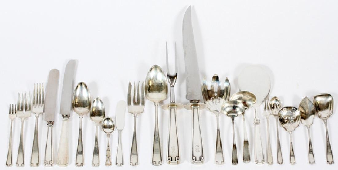 GORHAM 'ETRUSCAN' STERLING FLATWARE 1913 86 PIECES