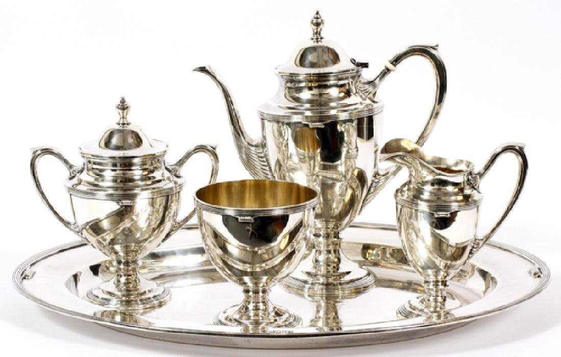 R. BLACKINTON HAND WROUGHT STERLING COFFEE SERVICE