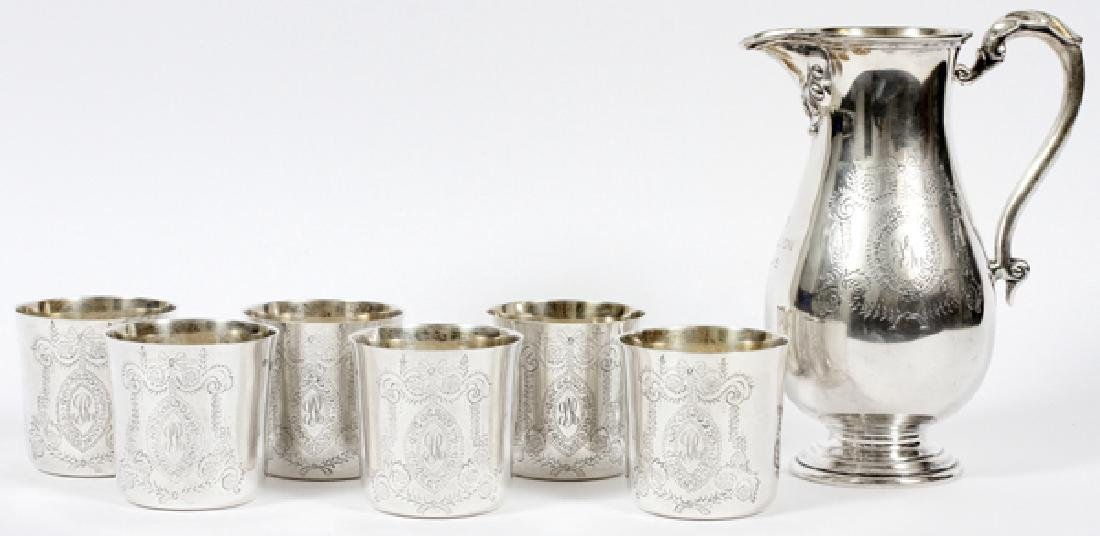 GARRARD & CO LTD IRISH STERLING BEVERAGE SERVICE