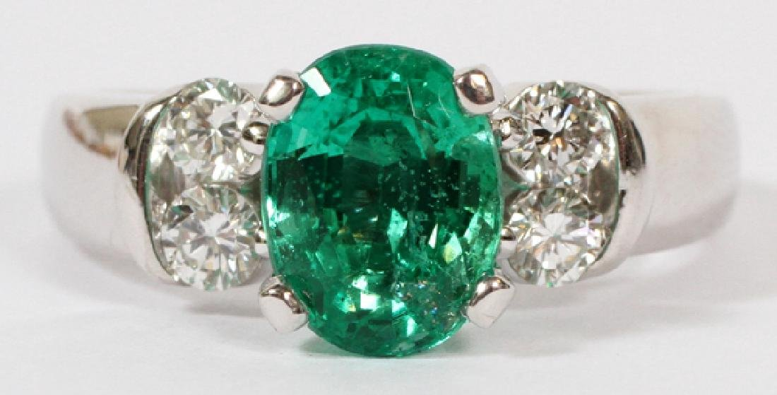 2.052CT EMERALD & DIAMOND RING