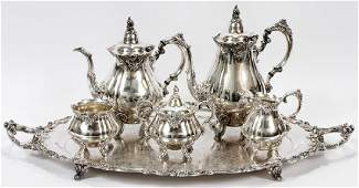 WALLACE 'BAROQUE' SILVER PLATE TEA AND COFFEE SET