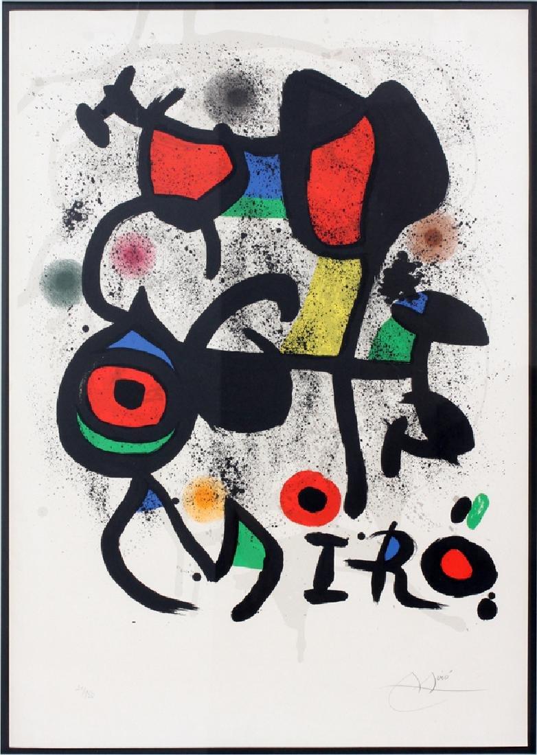 JOAN MIRO COLOR LITHOGRAPH 1972 POSTER