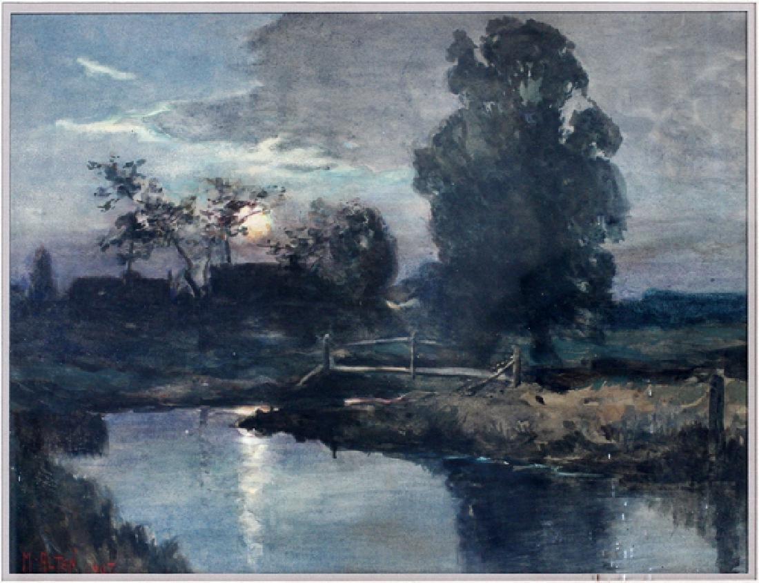 MATHIAS JOSEPH ALTEN WATERCOLOR 1907