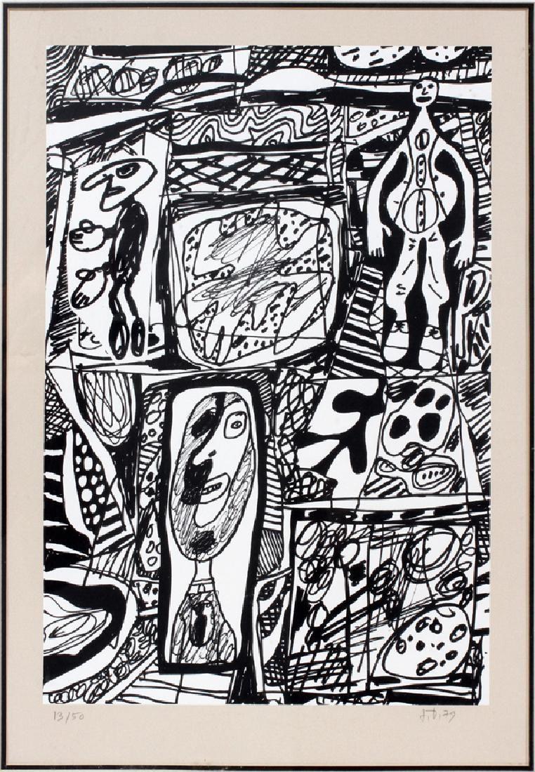 JEAN DUBUFFET LITHOGRAPH 1979