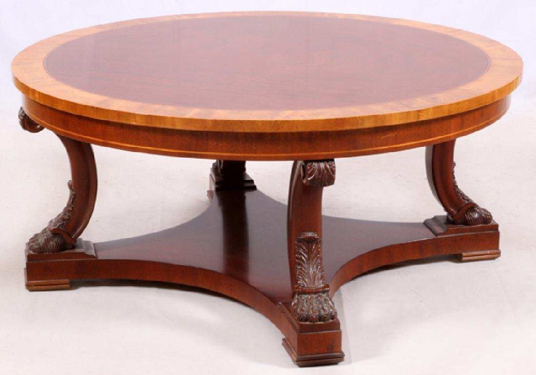 KINDEL FURNITURE INLAID COFFEE TABLE