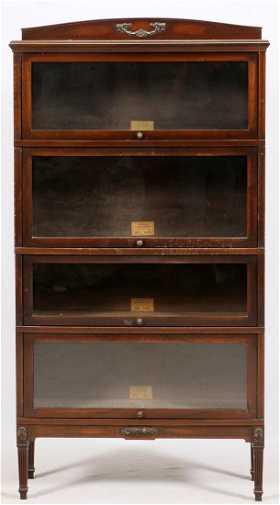 Globe Wernicke Mahogany Sectional Bookcase