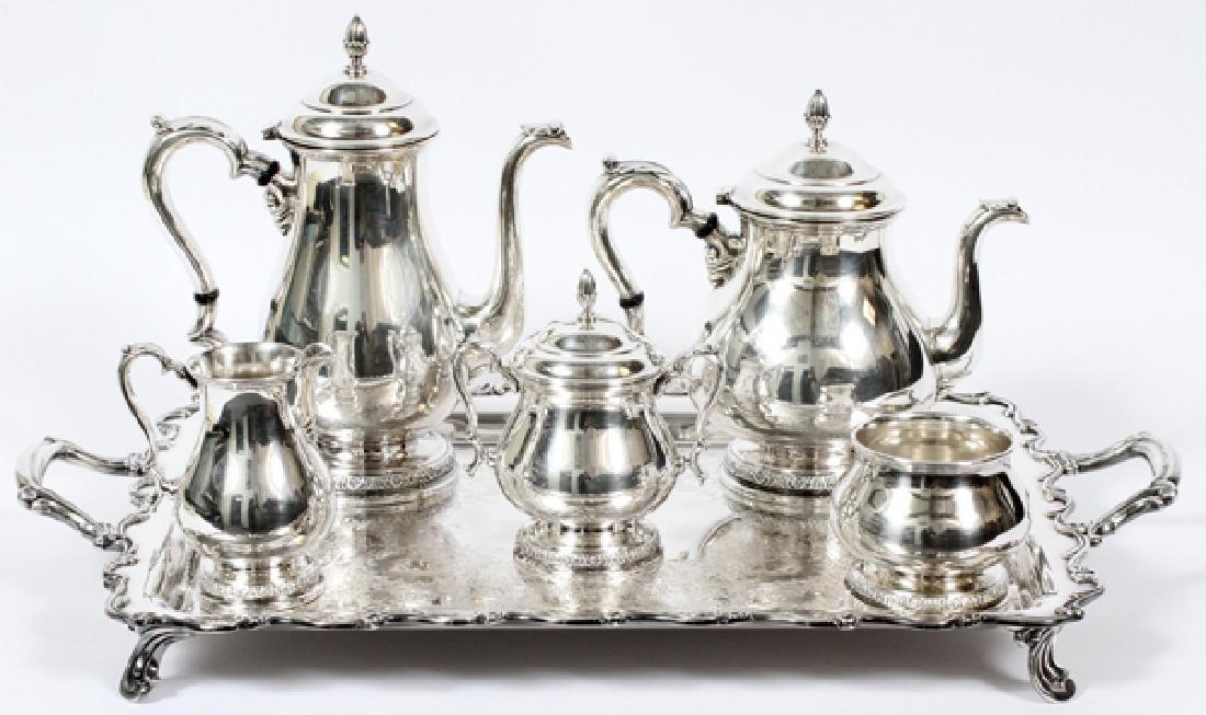INTERNATIONAL 'PRELUDE' STERLING TEA&COFFEE SERVICE