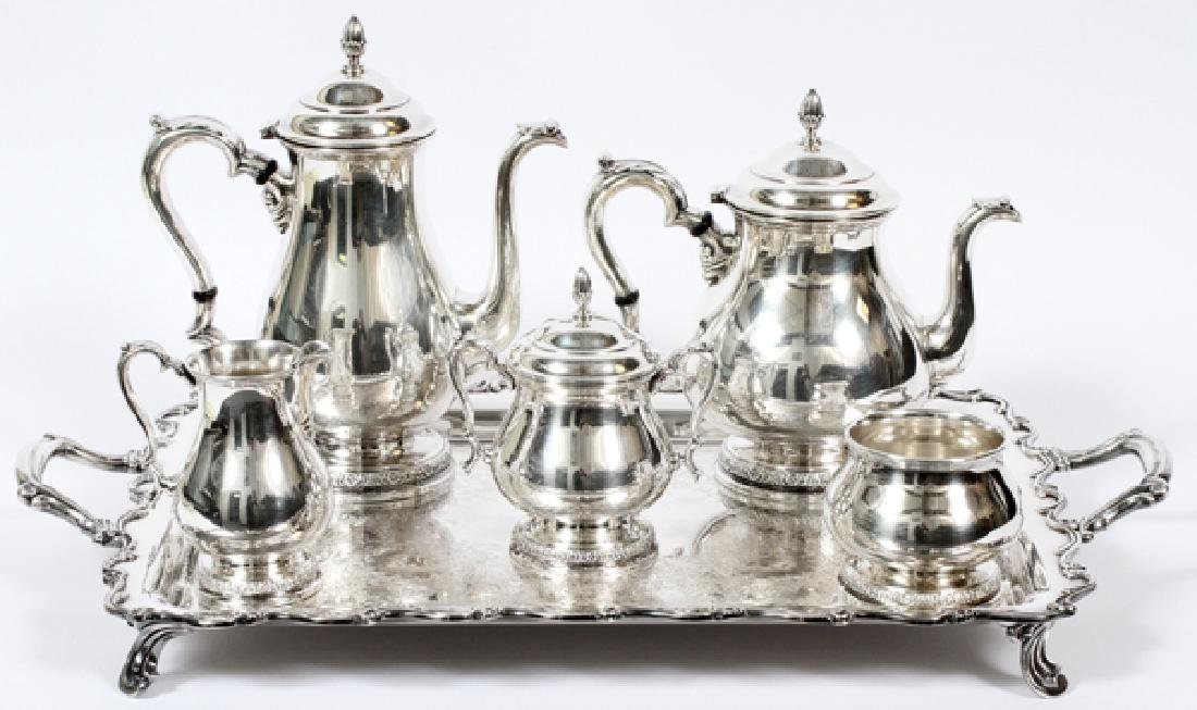 INTERNATIONAL 'PRELUDE' STERLING TEA&COFFEE SERVICE