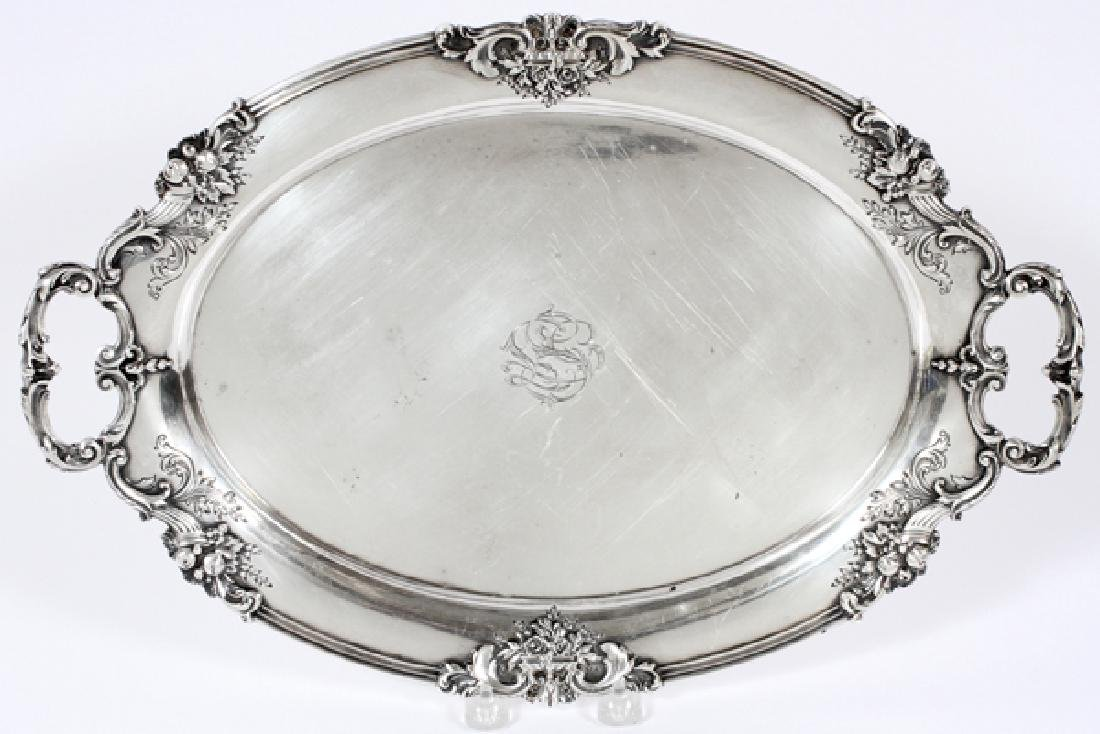 REED & BARTON 'FRANCIS I' STERLING HANDLED TRAY