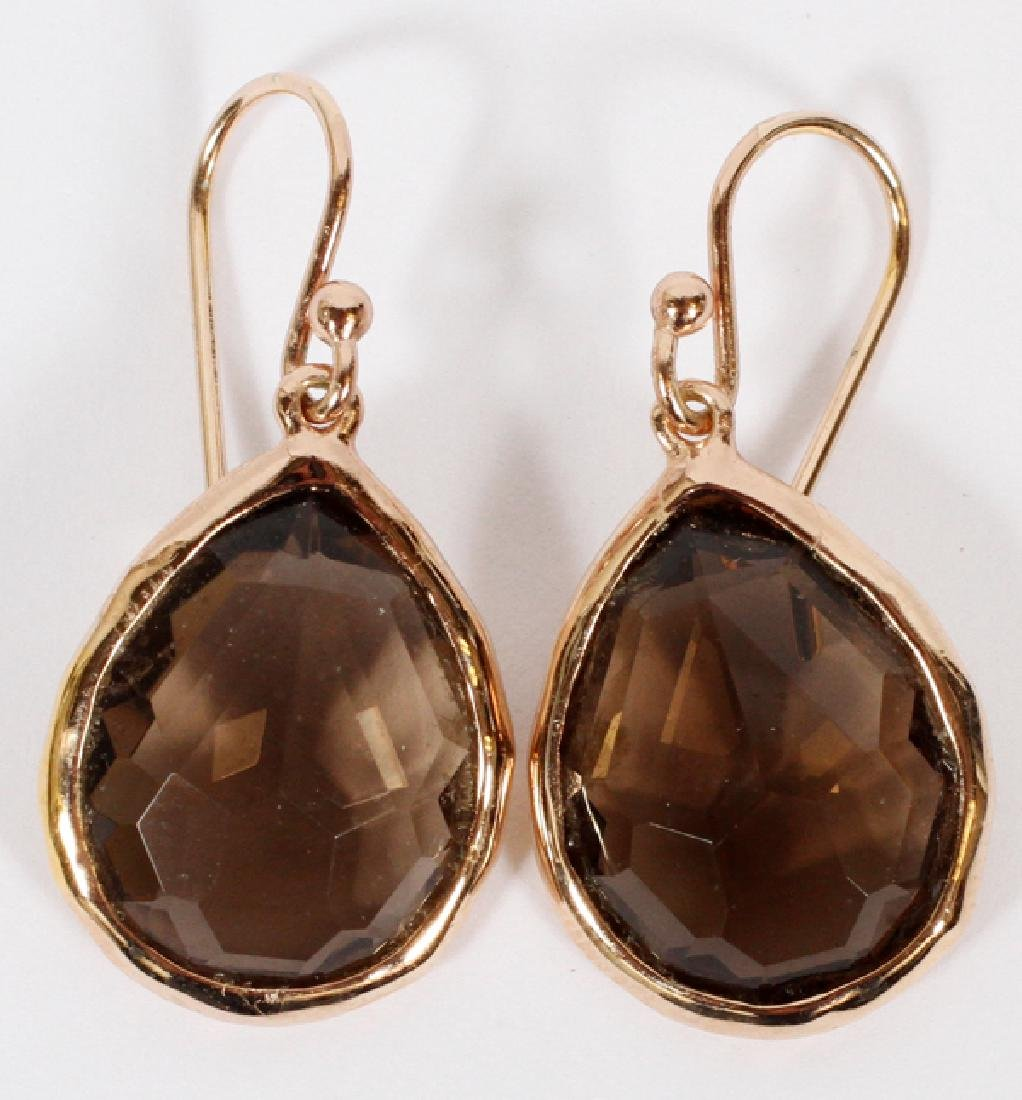 IPPOLITA TOPAZ & STERLING DROP ROSE EARRINGS