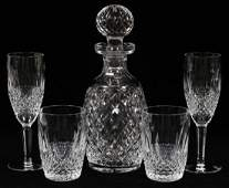 WATERFORD CRYSTAL DECANTER AND GLASSES FIVE PIECES