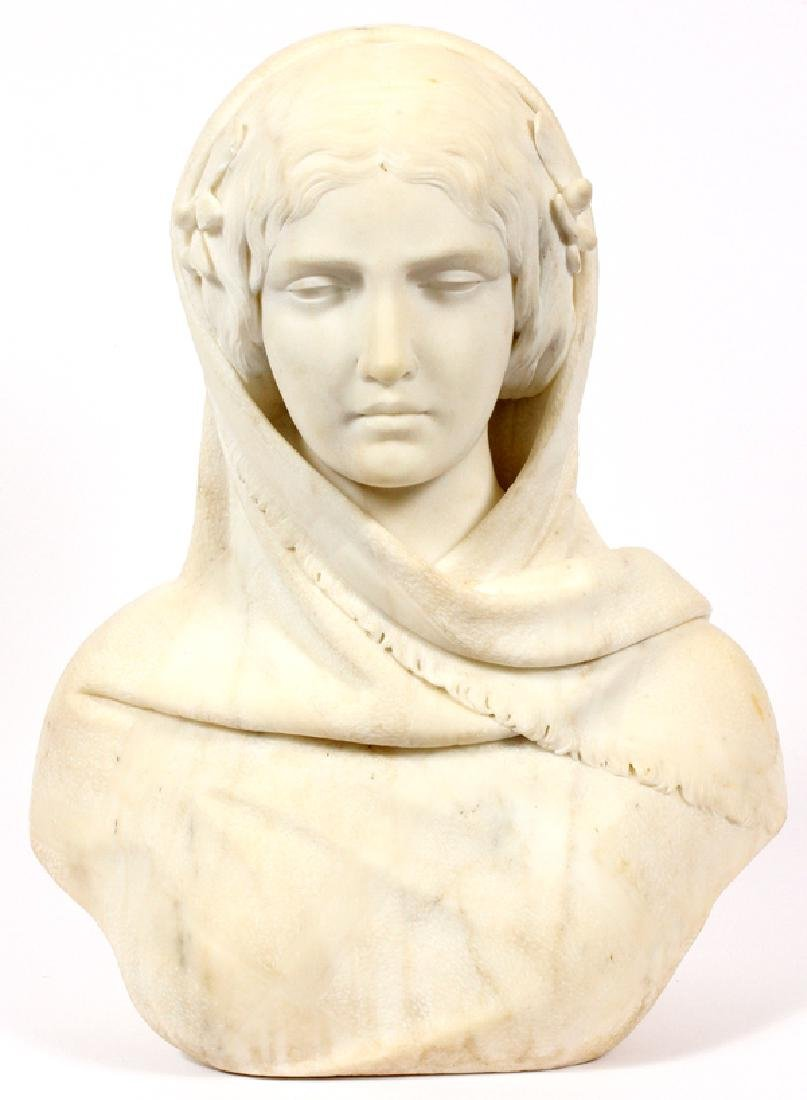 VINCENZO LUCCARDI MARBLE BUST