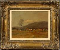 CHARLES PAUL GRUPPE OIL ON CANVAS ON BOARD
