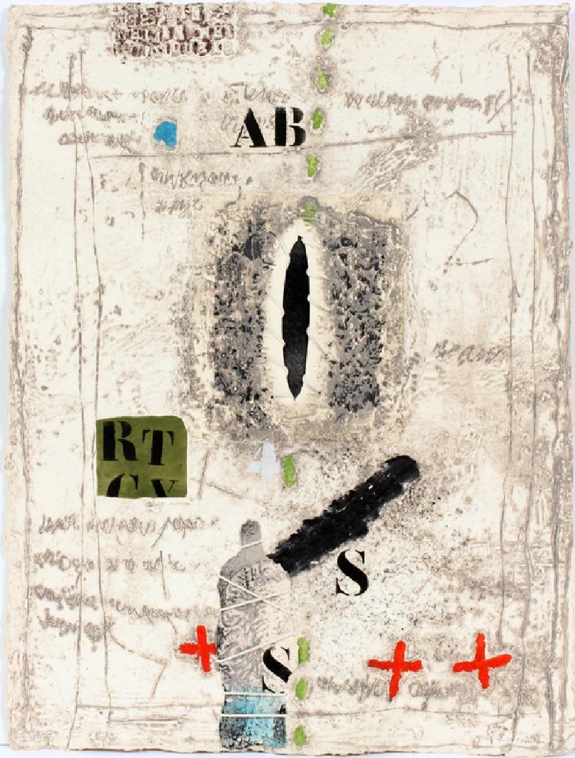 JAMES COIGNARD CARBORUNDUM ON RAG PAPER