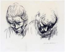 KATHE KOLLWITZ LITHOGRAPH IN BLACK  WHITE