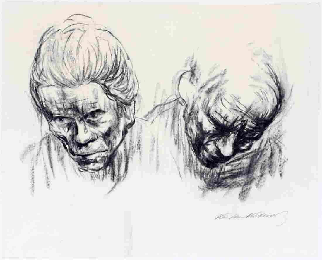 KATHE KOLLWITZ LITHOGRAPH IN BLACK & WHITE