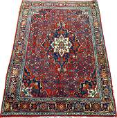 BIJAR PERSIAN WOOL RUG C 1950